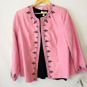Dress Barn Pink Blazer w Blouse Size 14/16 Large